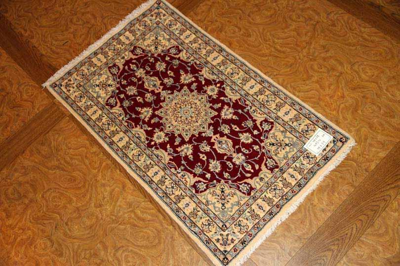 高級ペルシャ玄関マットナイン6LA赤い色99403