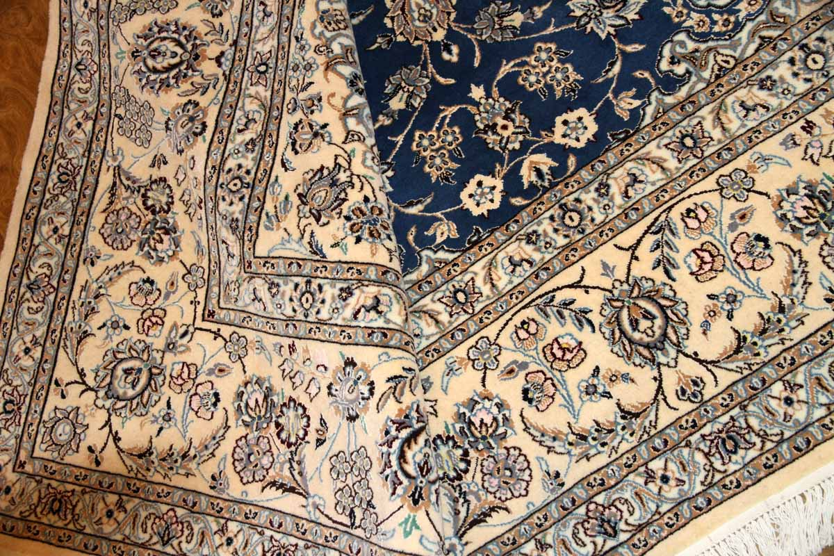 あこがれのナインブルー正方形リビングペルシャ絨毯286000