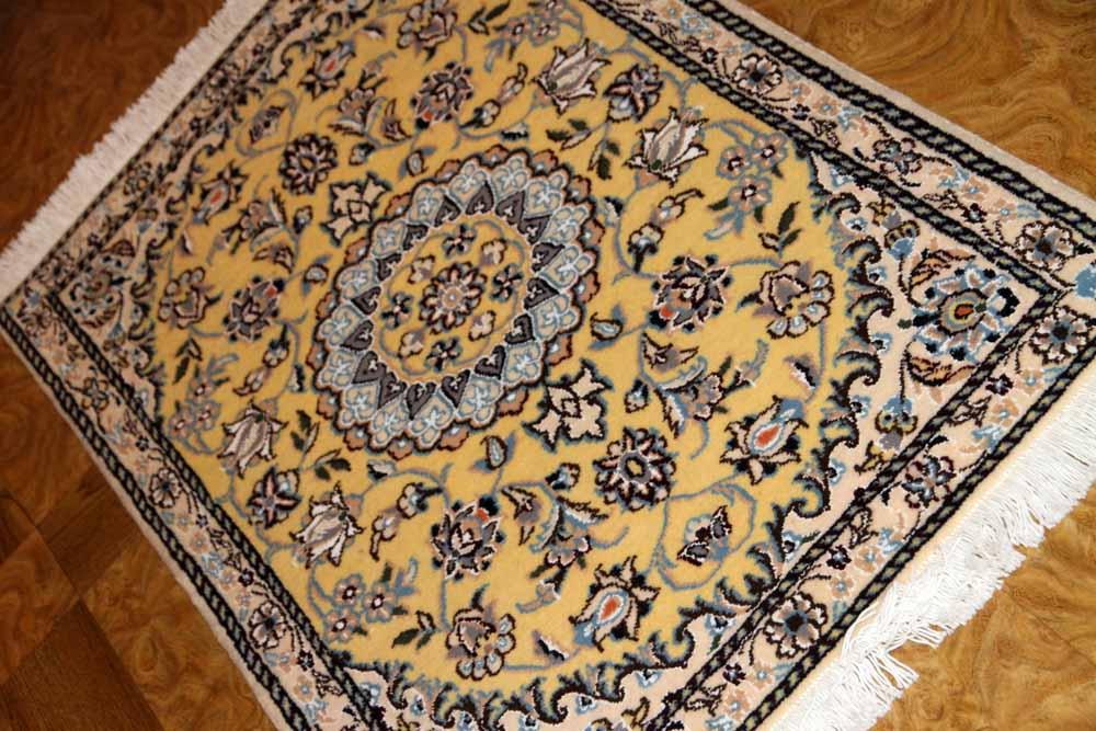 イラン輸入マンション玄関マットペルシャ絨毯ナイン産35124