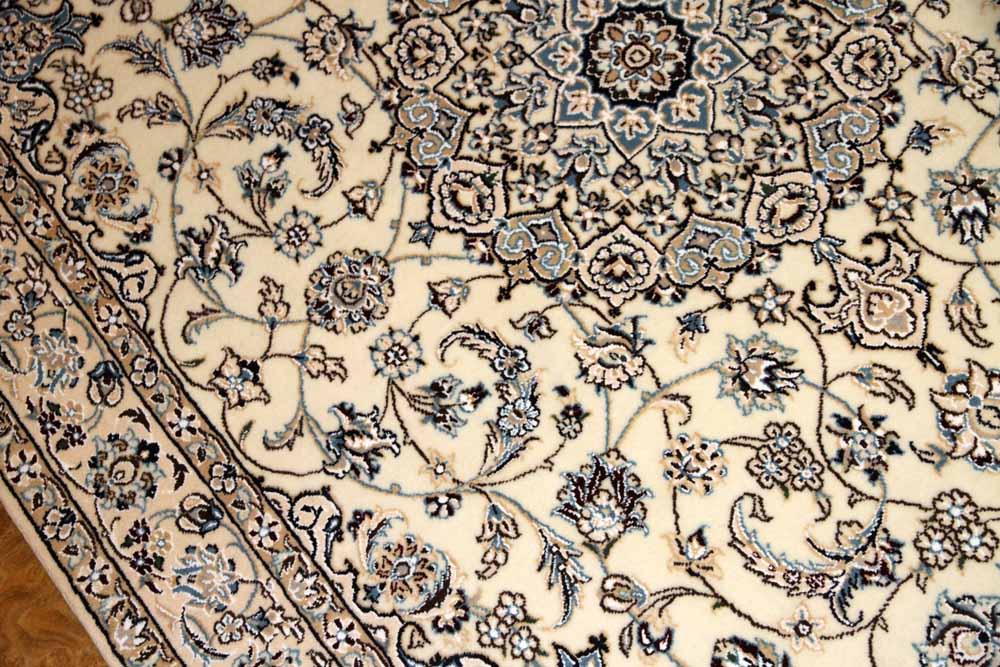 手織りイラン製ラグ、ペルシャ絨毯ナインベージュ59016