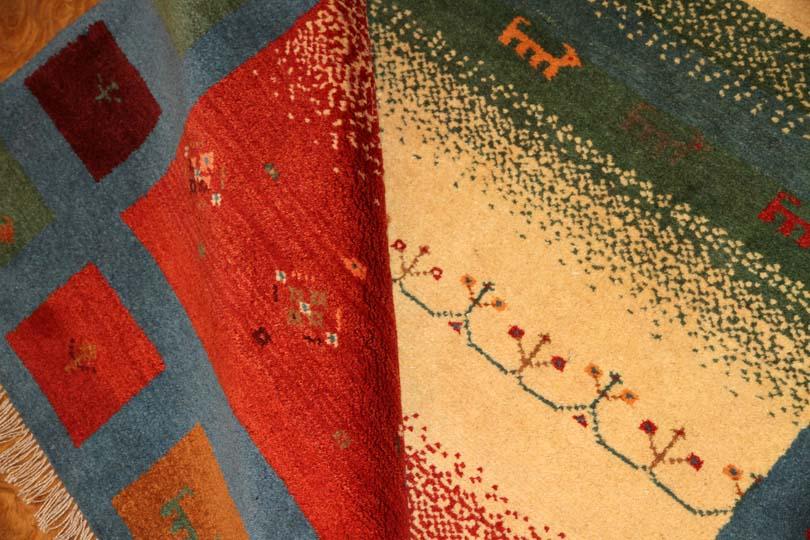 トップクオリティー手織り高品質ギャッベメリノウールシラズ201500