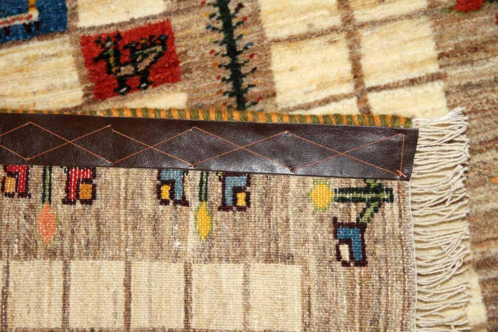 高級ギャッベ、とても細かいメリノウールのペルシャギャッベ18882