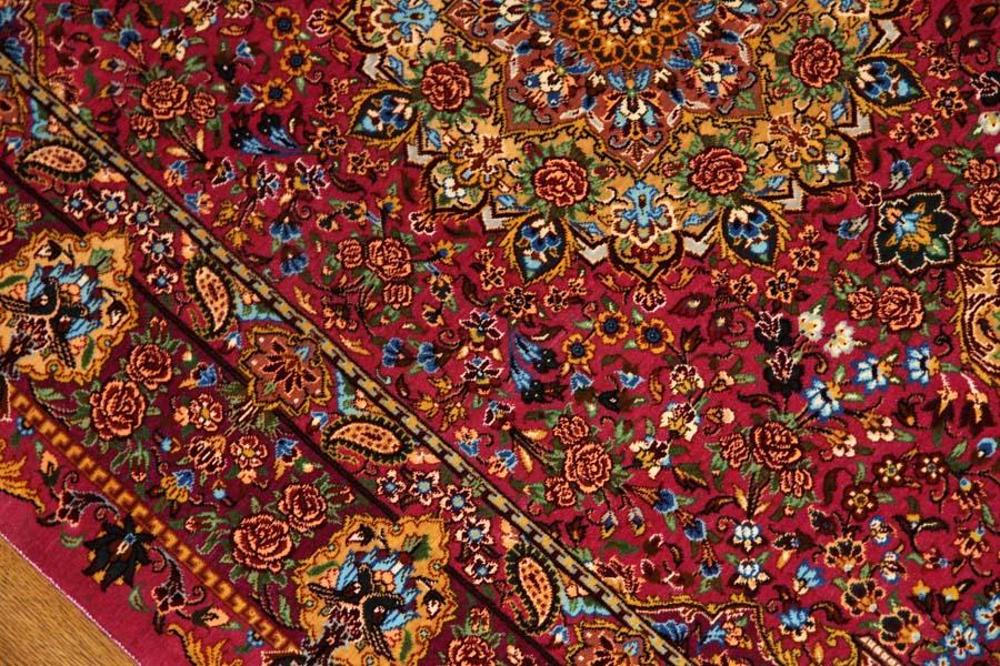とても可愛いピンク色の高級シルク絨毯57007