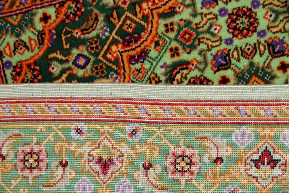 小さい玄関マットシルク高品質ペルシャ絨毯75112