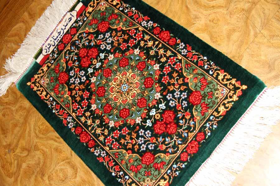有名工房ラジャビヤンミニ手織りシルクペルシャ56001