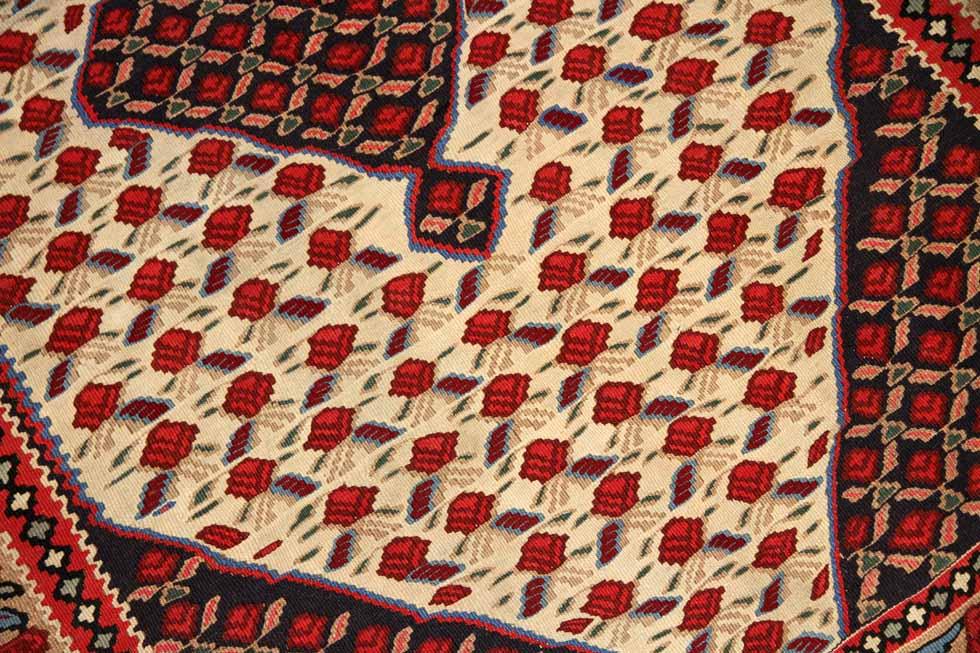 おしゃれキリムのインテリアラグセネ産地ウール5536