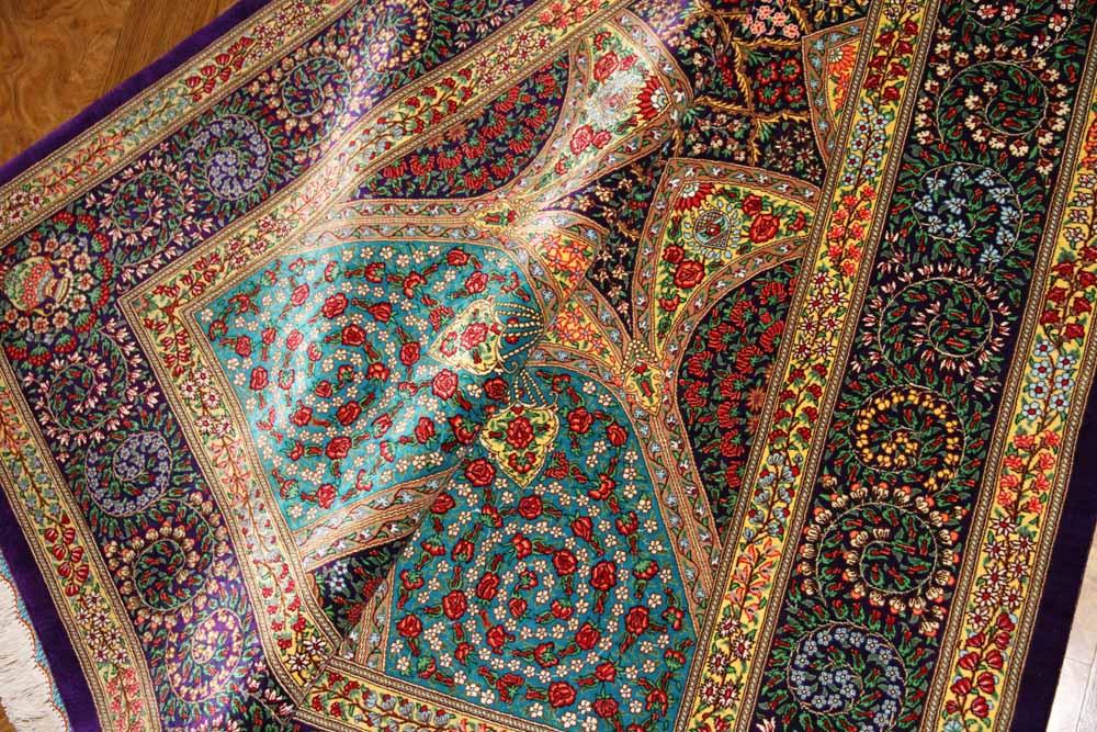 最高級シャーヤディデザインシルクペルシャ絨毯60009
