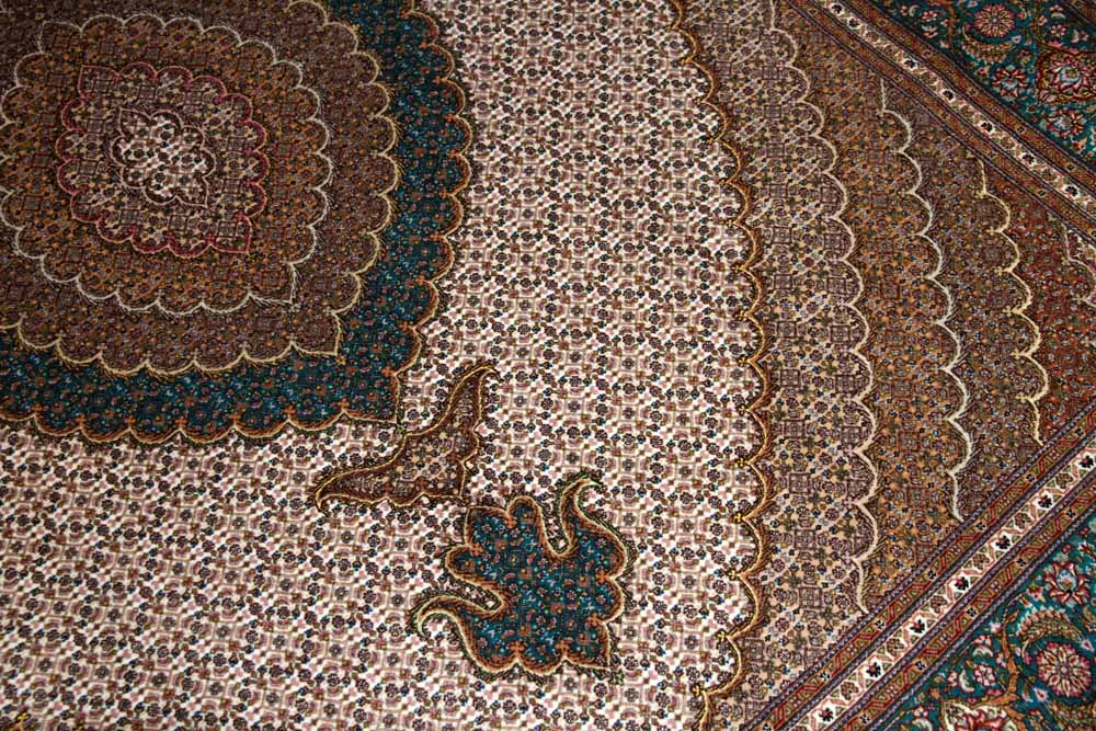 最高級リビング絨毯ペルシャタブリーズマヒ75152