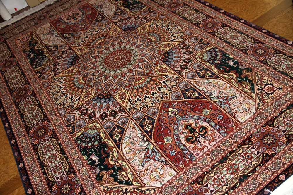 高級リビングペルシャ絨毯タブリーズゴンバディーデザイン59008