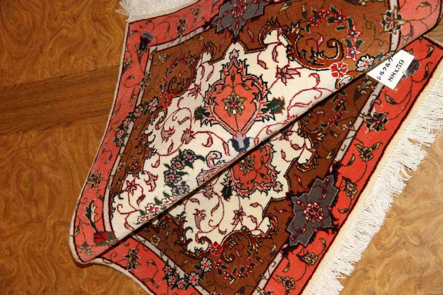 高品質のラグマットタブリーズペルシャ絨毯34088