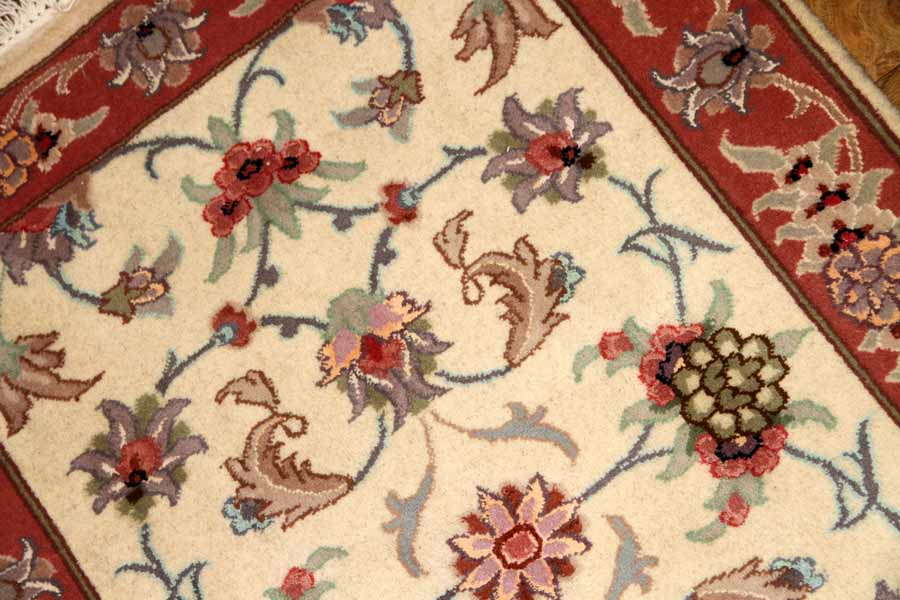 手織りイラン製ペルシャ絨毯タブリーズ玄関マット35315