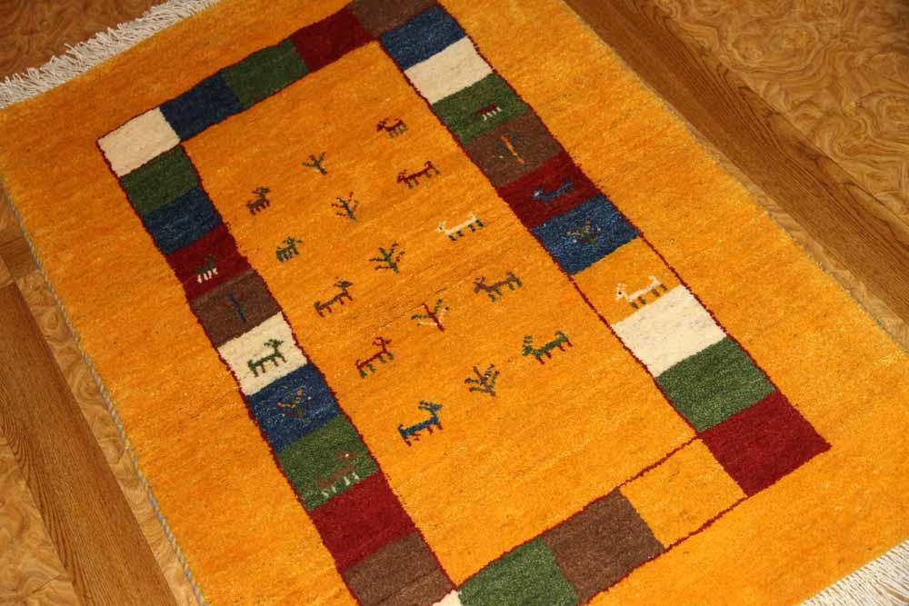メリノウールの高級細かい織り方のギャッベ188113