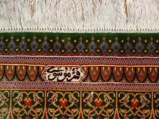 グリーン絨毯高級シルククムペルシャ絨毯500801