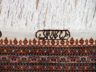 高級ペルシャ手織りタブリーズ産マヒデザイン57055