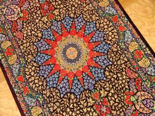 ペルシャ絨毯のクムシルクとても高品質マット57009