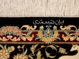 ペルシャのハンティングシルククム産地50037