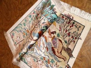 ハンティングデザイン小さい手織りペルシャ50010