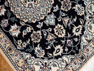 深みある綺麗な紺色手織りマンション玄関用58073