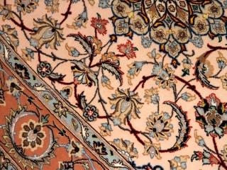 イスファハンラグ絨手織りペルシャカーペット50140