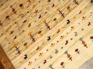 高品質手織りペルシャギャッベ玄関絨毯メリノウール18888
