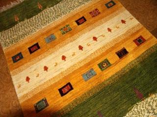 手織りギャッベイラン直輸入ウールソファー前19216