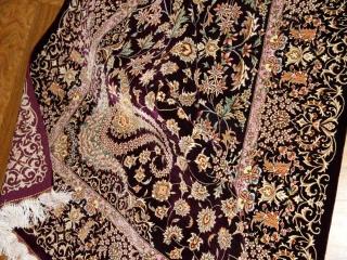 最高級ペルシャ絨毯シルク100%ラグサイズ60007