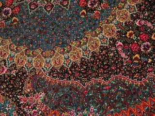 最高級手織りシルクペルシャ絨毯ジャムシディー工房60016