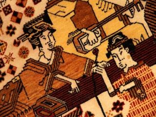 絶対,絶対見た事がないペルシャ絨毯1127