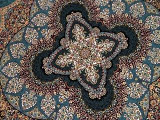 円形インテリアラグ機械織りの最高品質イラン製カーペット990072