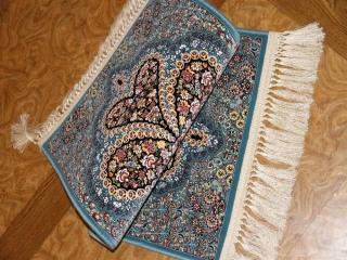 イラン製の高級機械織りカーペット玄関マット990051
