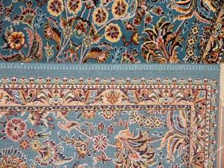 イラン製の高級機械織りのカーペット玄関マット990095