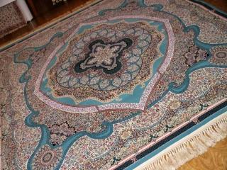 高級機械織りイラン製リビングサイズのカーペット正方形990077