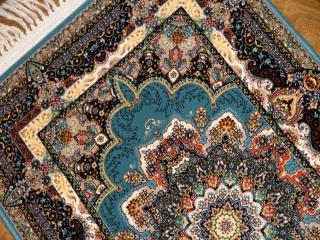 イラン製の高級機械織りのカーペット玄関マット990057