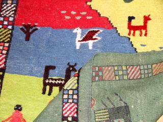 キリムギャッベ珍しい織り方のセンターラグ9900091