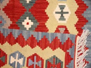 キリムの手織りマット、イラン輸入シラズ産46510