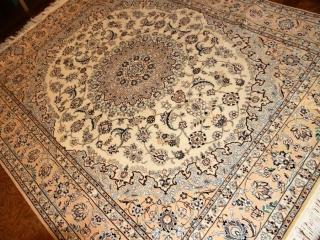ハンドメイドリビング絨毯のペルシャナイン57041