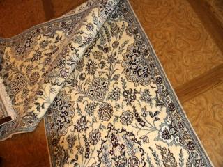 ナイン産の廊下敷き明るいベージュペルシャ絨毯55410