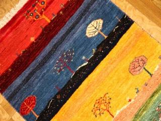 高級ギャッベ、とても細かい織り方ラグマット916100