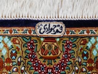シルクの玄関マットカラフルなペルシャ絨毯56094