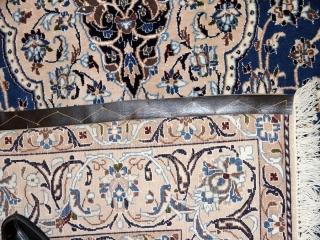 ペルシャじゅうたん、ナイン大きなラグブルー色、99434