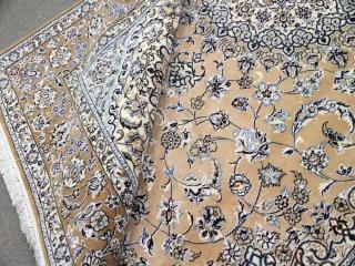 手織りペルシャ絨毯ナインリビング340821