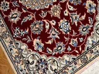 マンションの玄関マット、手織りペルシャ絨毯ナイン40549