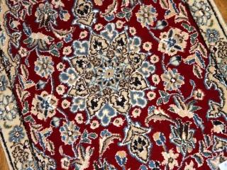 マンションの玄関マット、手織りペルシャ絨毯ナイン26746