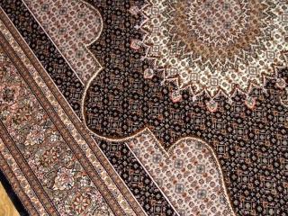 とてもかっこいいデザインの手織りペルシャ絨毯57049