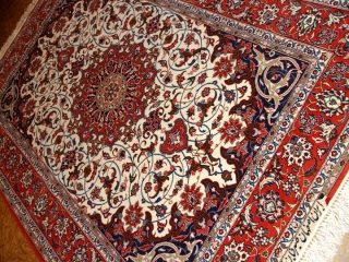 イランラグカーペット手織りイスファハン産50143