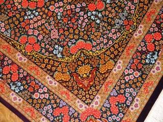 バラの絨毯カラフル高級手織りシルクラグ50095