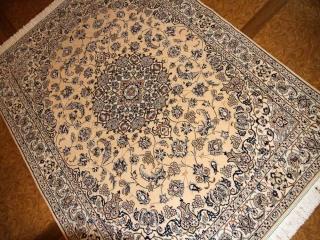 とてもおしゃれな手織りペルシャ絨毯高級ナインラグ59023