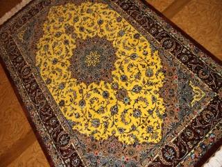 高級手織りシルクラグペルシャ絨毯クム産激安価格60004