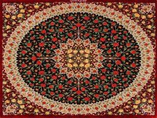 おしゃれ玄関マットの正方形、クムシルクのバラデザイン60023