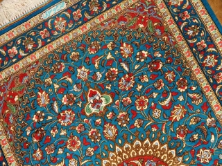 スカイブルー人気の色彩手織りペルシャ絨毯マンション玄関マット60038